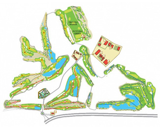 Mosa Trajectum Olive Golf Course map