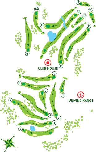 Alto Golf Course map