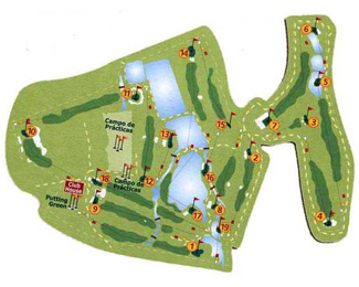 La Finca Golf Course map