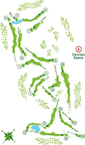 Vale da Pinta Golf Course map