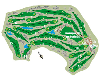 Mediterráneo Golf Course map