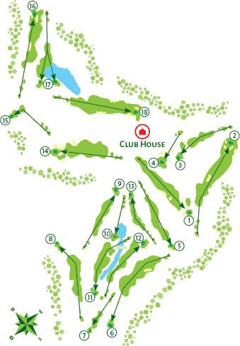 Gramacho Golf Course map