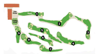 Costa Azahar Golf Course map