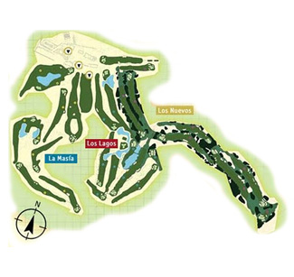 Escorpion Golf Course map