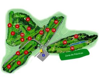 San Cugat Golf Course map