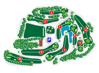 Plana de Vic Golf Course map