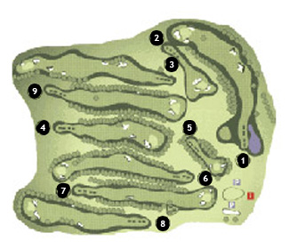 Sant Feliu Golf Course map