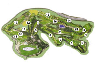 Sant Joan Golf Course map