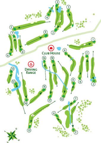 Penina Resort Golf Course map