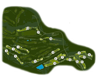Real Club de El Prat Golf Course map