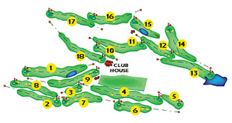Girona Golf Course map