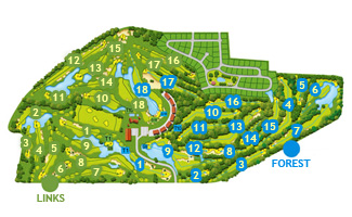 Empordá Forest Golf Course map