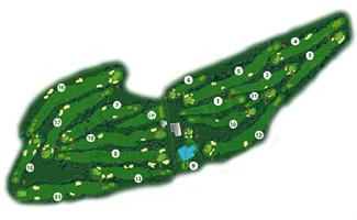 de Pals Golf Course map