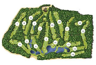 P.G.A. Catalunya - Stadium Golf Course map