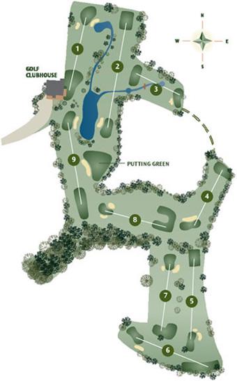Vale do Milho Par 3 Golf Course map