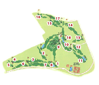 Bonmont Terres Noves Golf Course map