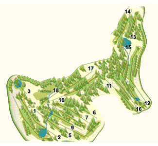 Reus Aigüesverds Club Golf Course map