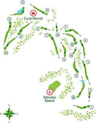Quinta do Lago North Golf Course map