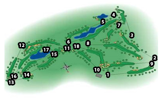 La Moraleja II Golf Course map