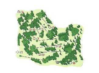 Las Encinas Golf Course map