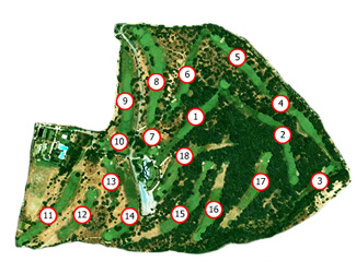 La Herrería Golf Course map