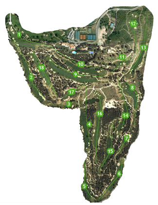 Real Sociedad Hipica Española Club de Campo Golf Course map