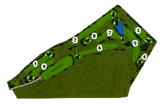 Guara Golf Course map