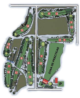 Real Aeroclub Zaragoza Golf Course map
