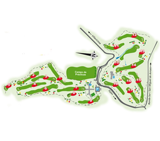 La Llorea Golf Course map