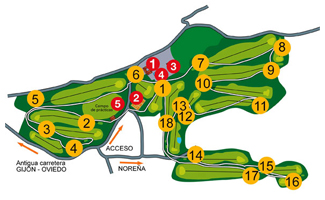 La Barganiza Golf Course map