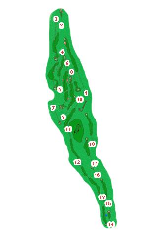 Llanes Golf Course map