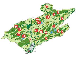 La Rasa de Berbes Golf Course map