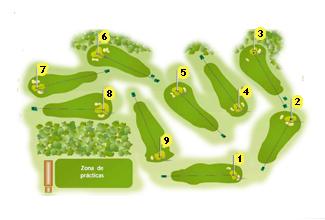 Izki Lagrán Golf Course map