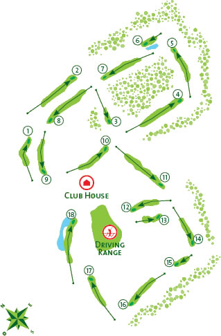 Vilamoura Millennium Golf Course map
