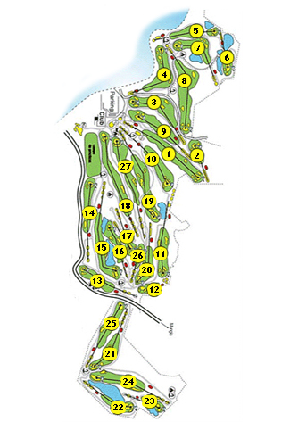 Laukariz Golf Course map