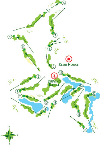 Vilamoura Victoria Golf Course map