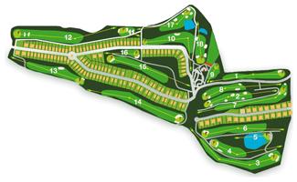 Villar de Olalla Golf Course map