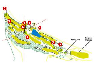 El Bierzo Golf Course map
