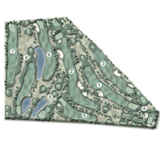 Las Llanas S.L. Ctra. Fresno Golf Course map