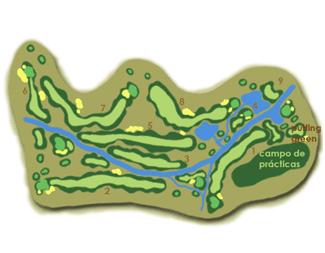 La Dehesa de Morón Golf Course map