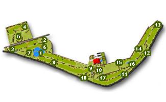 Entrepinos Golf Course map