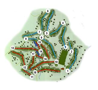 Talayuela Golf Course map