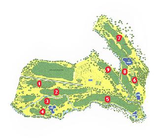 Lugo Golf Course map
