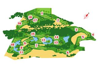 Rioja Alta Golf Course map