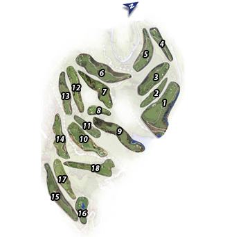 La Cala America Golf Course map