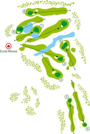 Balaia Golf Course map