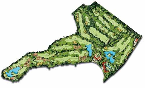 Roda Golf Course map