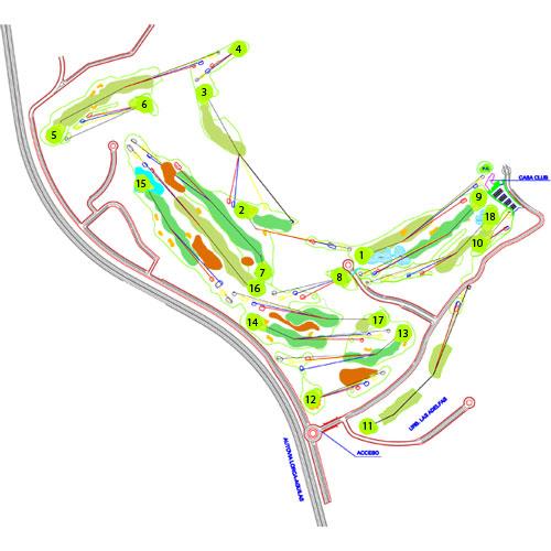 Lorca Resort & Spa Golf Course map