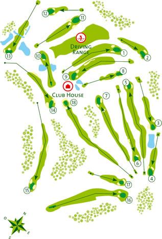 Benamor Golf Course map