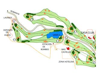 d'Aro - Mas Nou Golf Course map